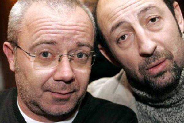 Les humoristes français Kad et Olivier....