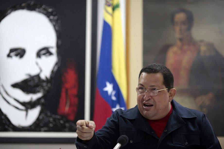 Le président vénézuélien Hugo Chavez, photographié le 3... (Photo: Reuters)