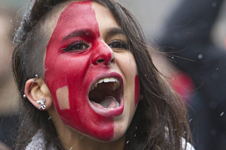 Une étudiante participait à une manifestation contre la... (Photo: Patrick Sanfaçon, La Presse)