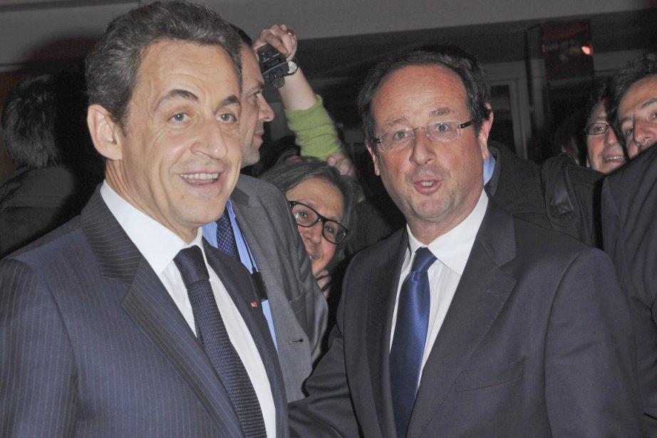 Le président «bling-bling» Nicolas Sarkozy (à gauche) et... (Photo: Christophe Guibbaud, Archives AP)