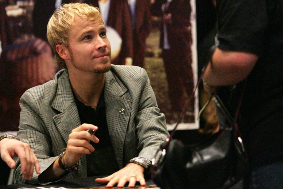 Brian Littrell... (Photo: Archives Agence France-Presse)