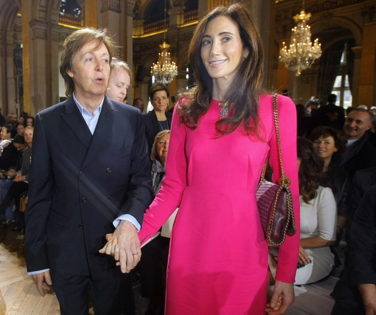 Paul McCartney et sa femme Nancy Shevell. | 5 mars 2012