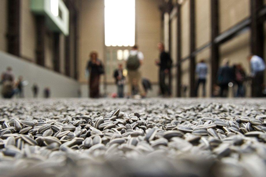 Les graines de tournesol d'Ai Weiwei, lors de... (Photo Leon Neal, AFP)
