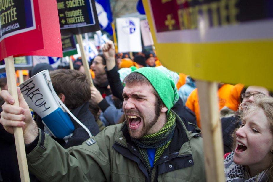 Certains étudiants sont en grève depuis maintenant trois... (Photo: André Pichette, Archives La Presse)