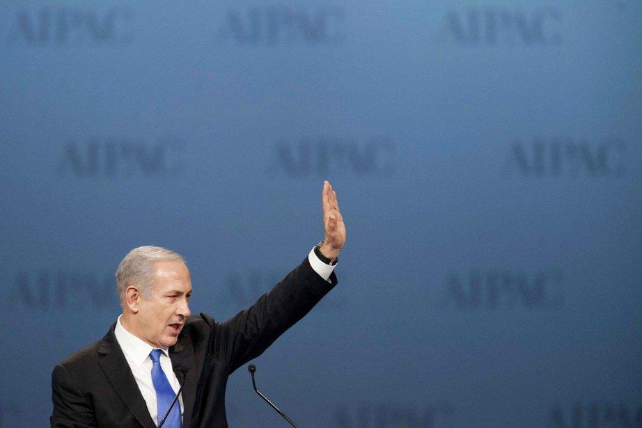 Lors de son discours devant l'AIPAC, Benyamin Nétanyahou... (Photo: Joshua Roberts, Reuters)