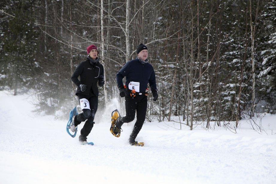 La course en raquette aurait vu le jour... (Photo Jeannot Lévesque, Le Quotidien)