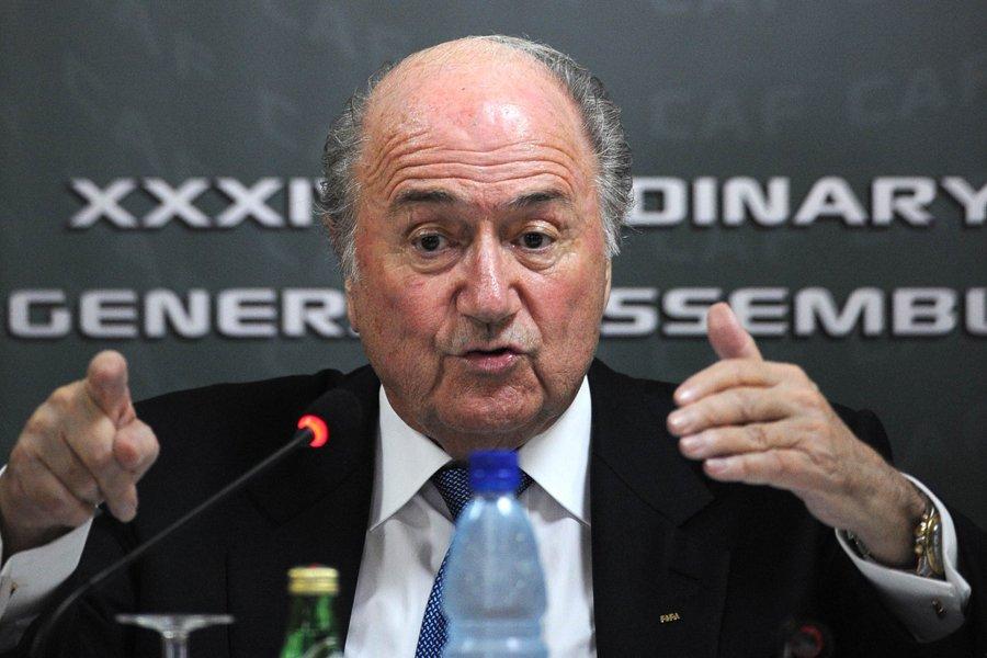 Le président de la FIFA, Sepp Blatter.... (Photo: AFP)