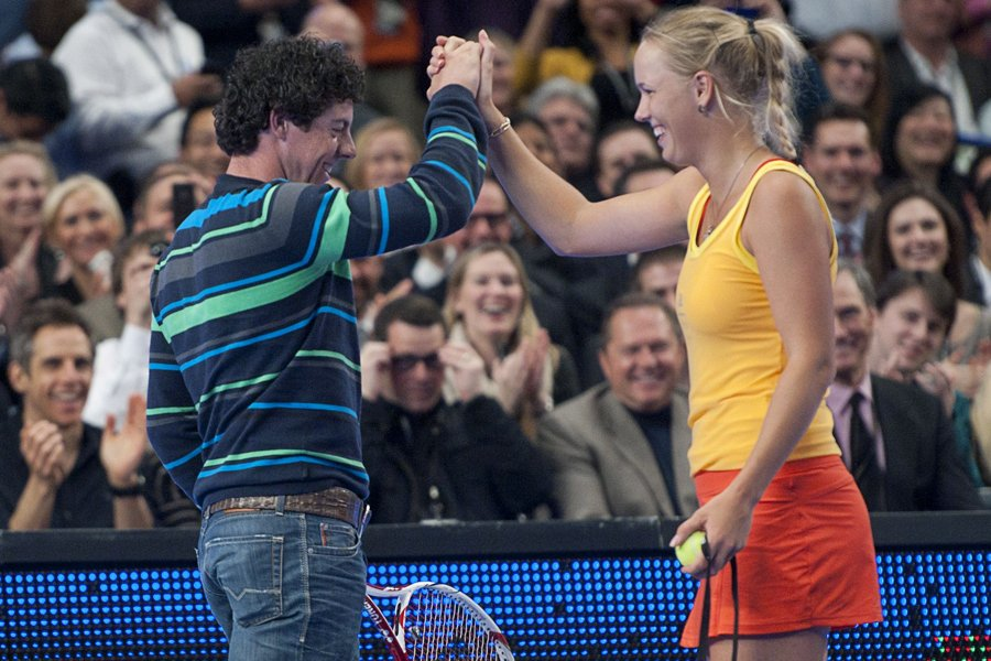 Rory McIlroy et Caroline Wozniacki... (Photo: Reuters)