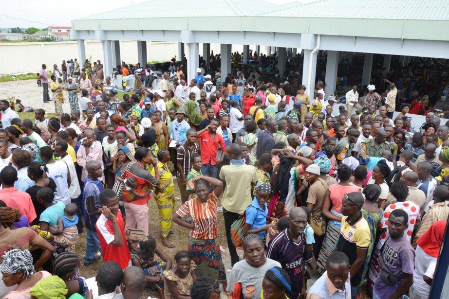 Le marché Nkombo de Brazzaville a été transformé... (Photo: Patrick Fort, AFP)