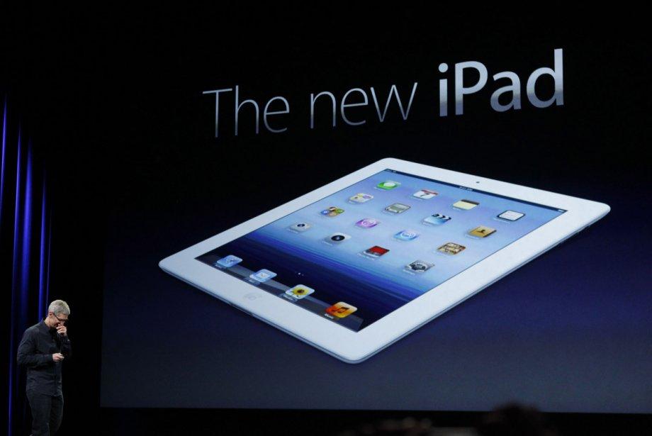 Tim Cook présente le nouvel iPad d'Apple à...