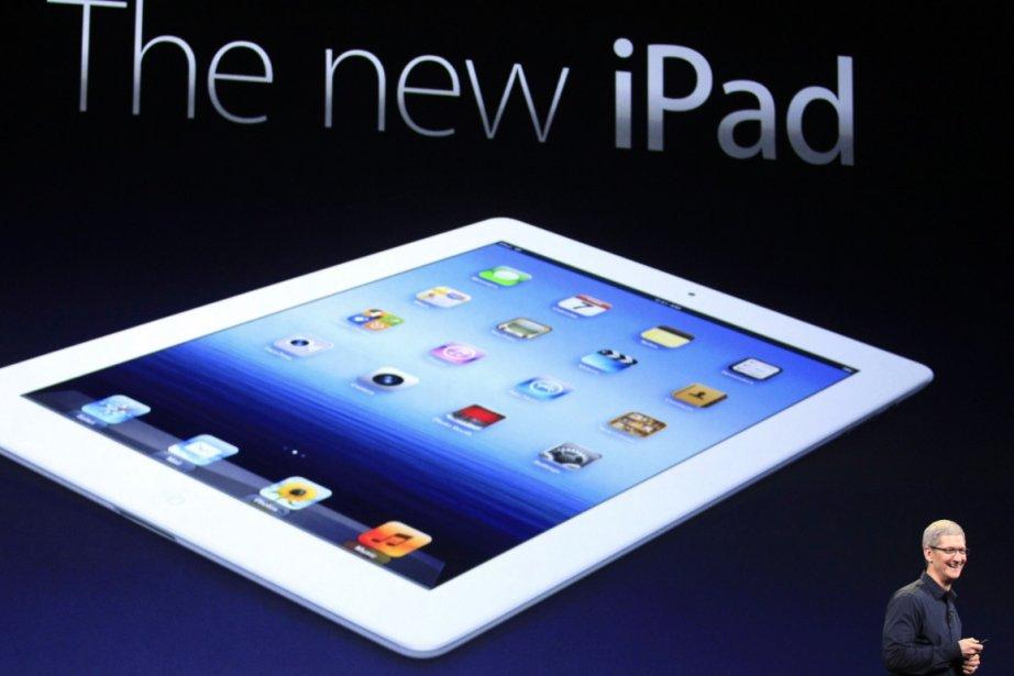 Le chef de la direction d'Apple, Tim Cook,... (AP)