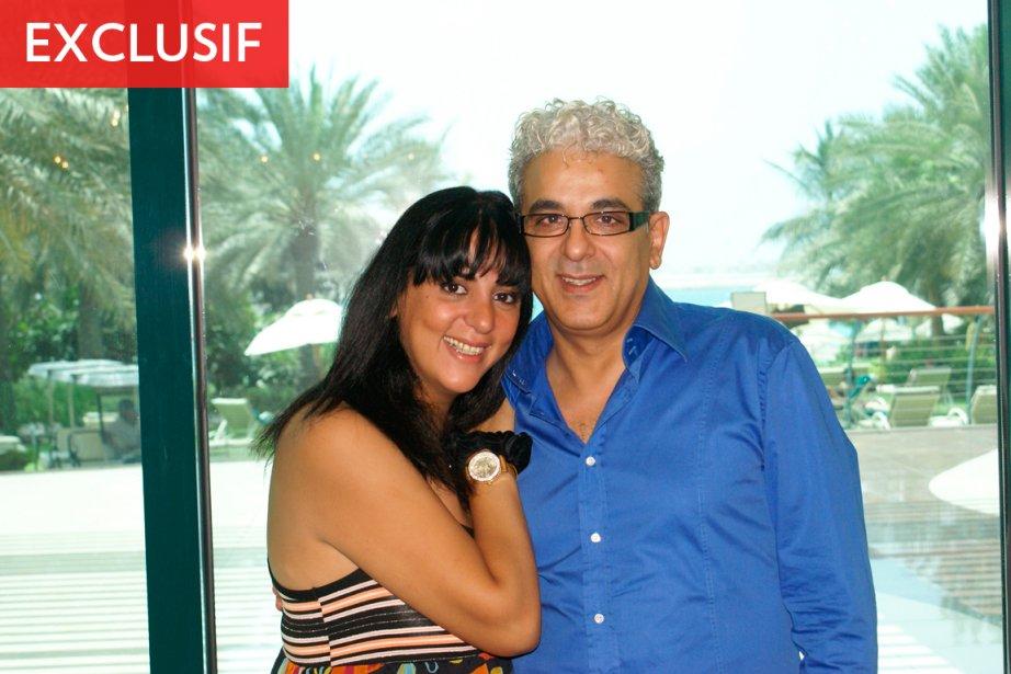 Abdelhakim Bouarfa avec sa soeur, lors de vacances... (Photo fournie par la famille)