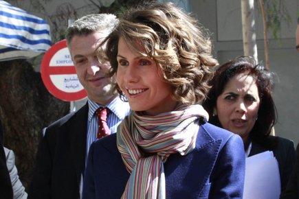 Asma Assad, la femme du président de la... (Photo: AFP)