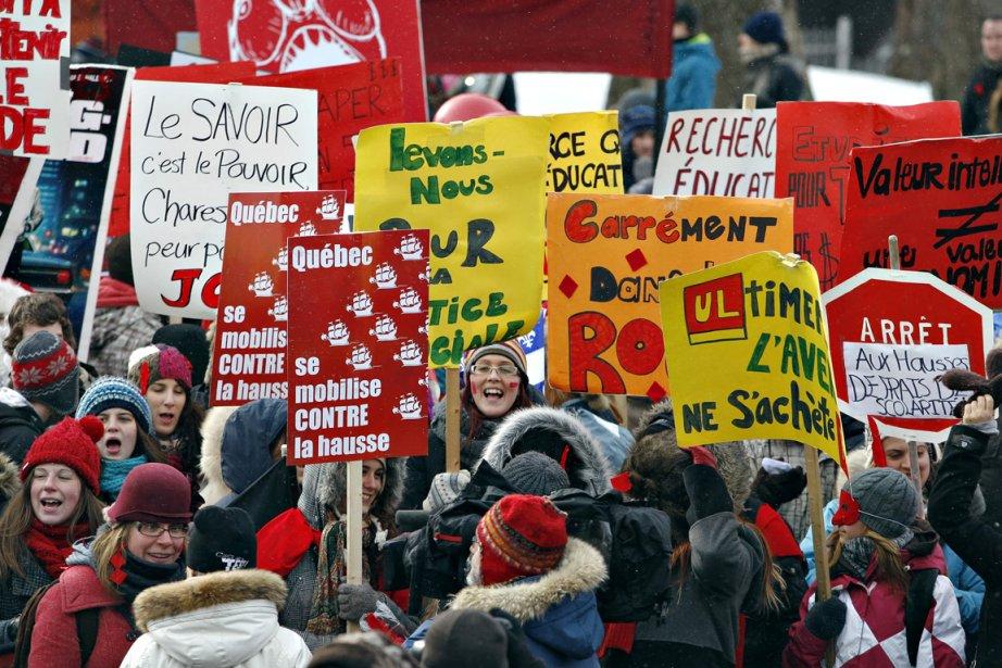 Les étudiants ont manifesté à Québec contre la... (Photo: Pascal Ratthé, Le Soleil)