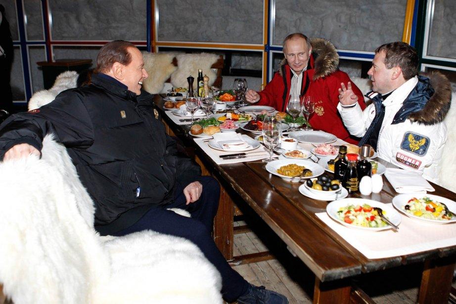 À son arrivée à la station de ski... (Photo: Dmitry Astakhov, AFP)