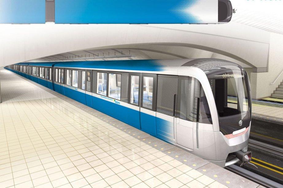 Les nouvelles voitures du métro sont désignées jusqu'à... (Illustration fournie par la STM)