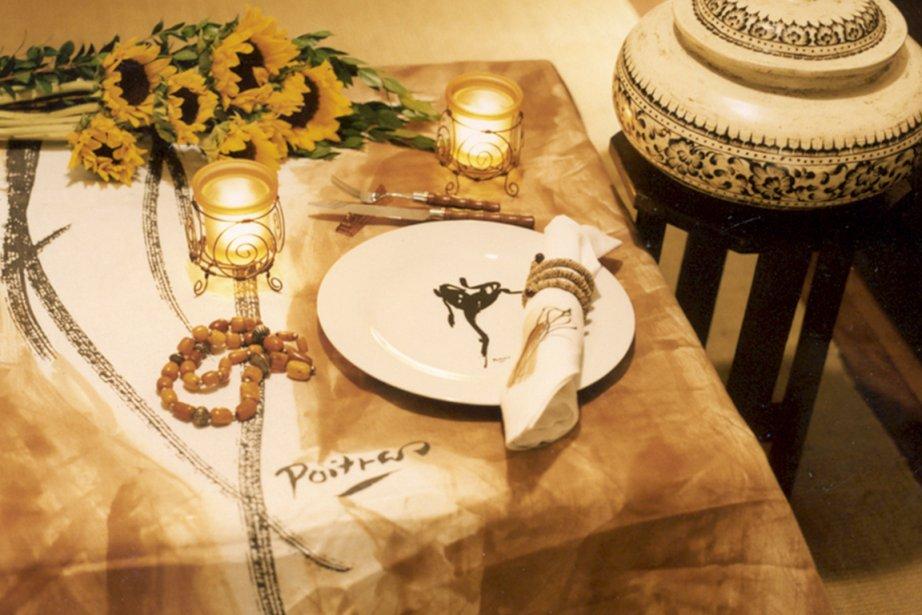 Linge de table et vaisselle signés Jean-Claude Poitras.... (Photo fournie par Jean-Claude Poitras)