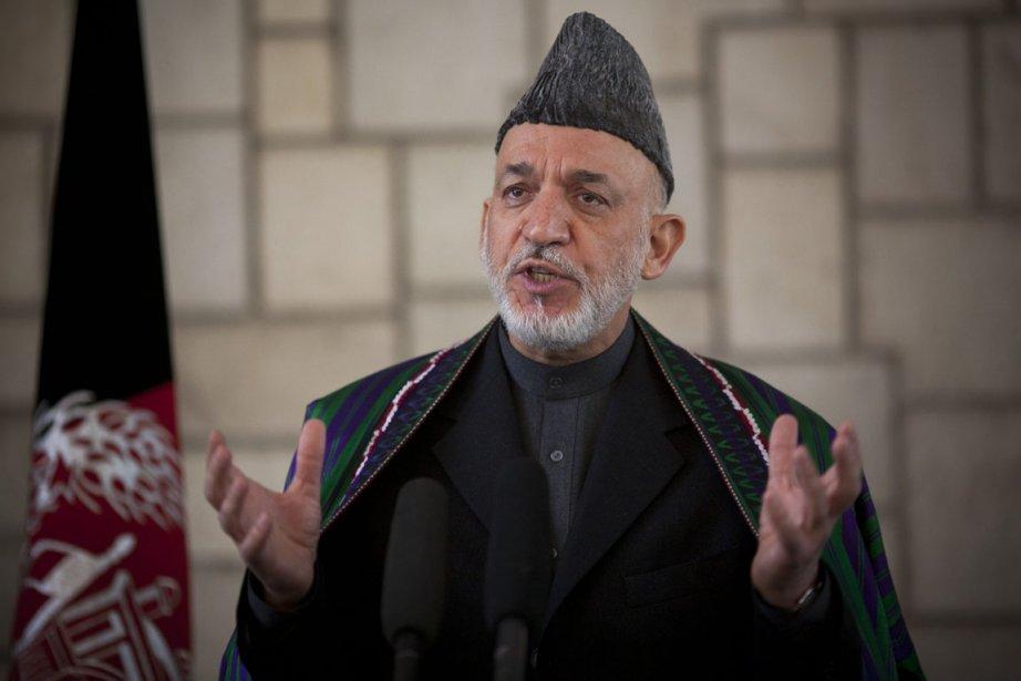 Fin février, le président afghan Hamid Karzaï avait... (Photo: Anja Niedringhaus, AP)