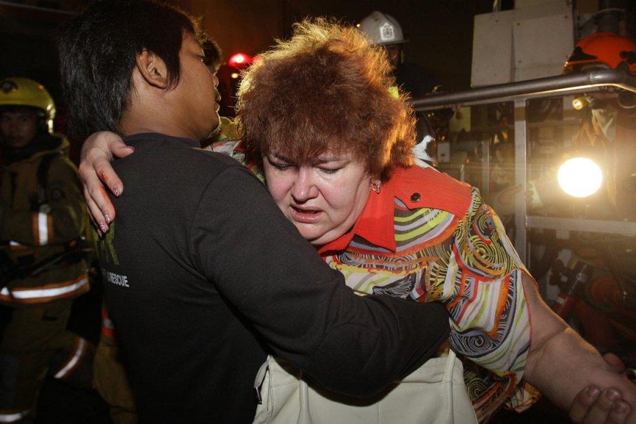 Des touristes ont été blessés jeudi soir lors... (Photo: Sakchai Lalit, AP)