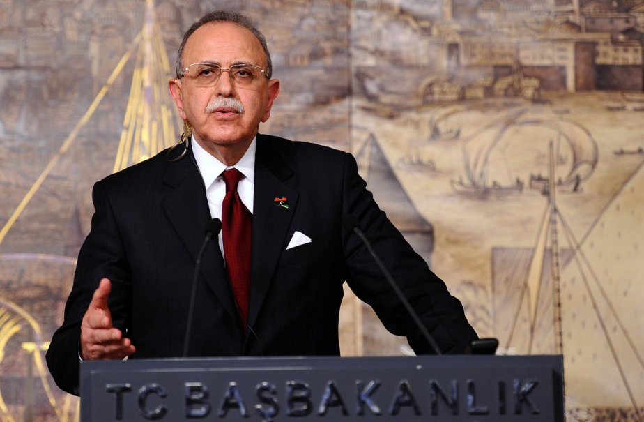 Le premier ministre libyen, Abdurrahim el-Keib... (Photo: MUSTAFA OZER, AFP)