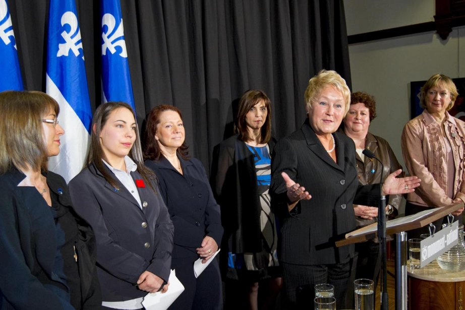 Pauline Marois a profité de la Journée internationale... (Photo: Alain Roberge, La Presse)