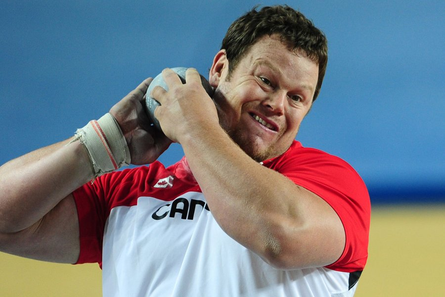 Dylan Armstrong... (Photo: AFP)