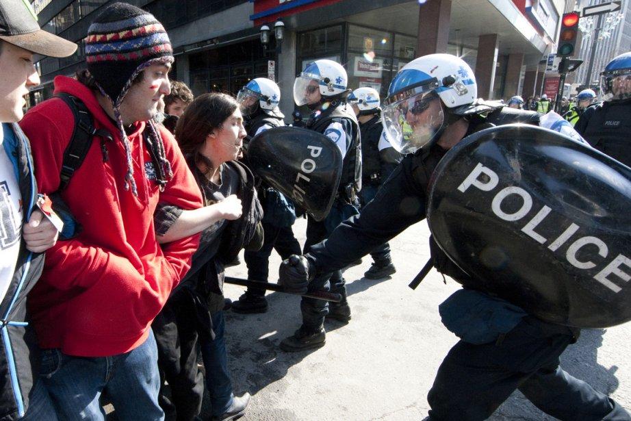 Policiers et étudiants se sont affrontés lors d'une... (Photo: André Pichette, La Presse)