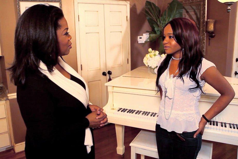 Oprah Winfrey et la fille de Whitney Houston,... (Photo: Reuters)