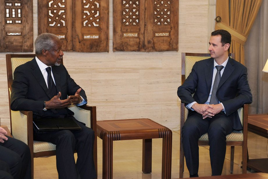 La mission de Kofi Annan (ici avec al-Assad,... (Photo AP)