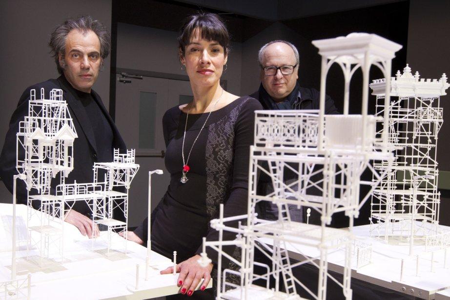 Jean-Francois Casabonne, Marie-Hélène Thibault et Denis Marleau, entourés... (Photo: Robert Skinner, La Presse)