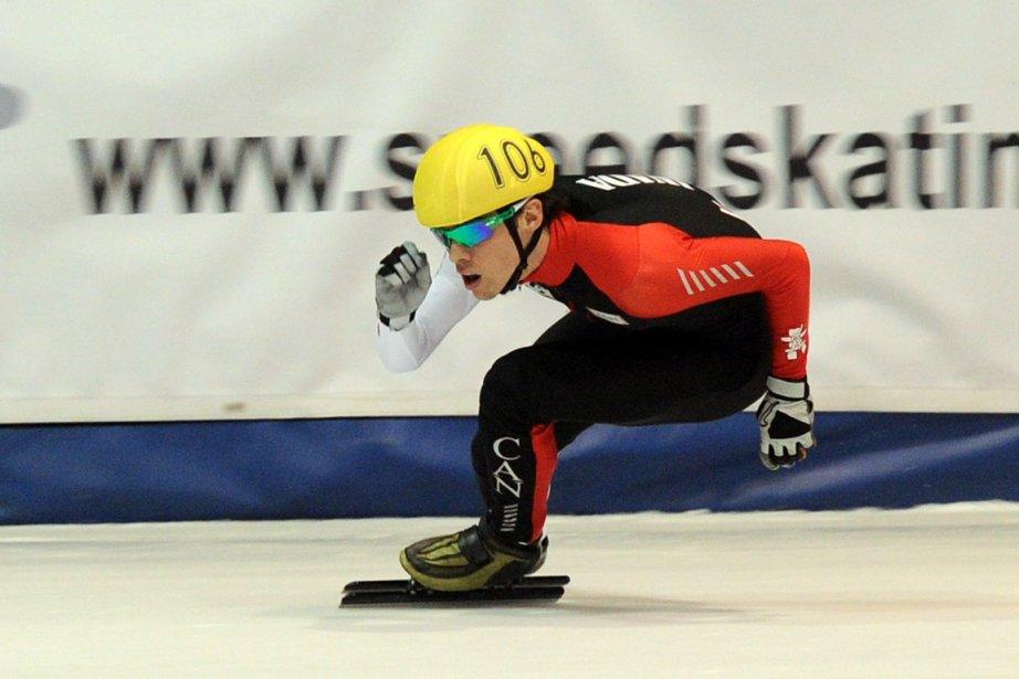 François Hamelin, le gagnant du 1500 mètres vendredi,... (Photo : Erick Labbé, archives)