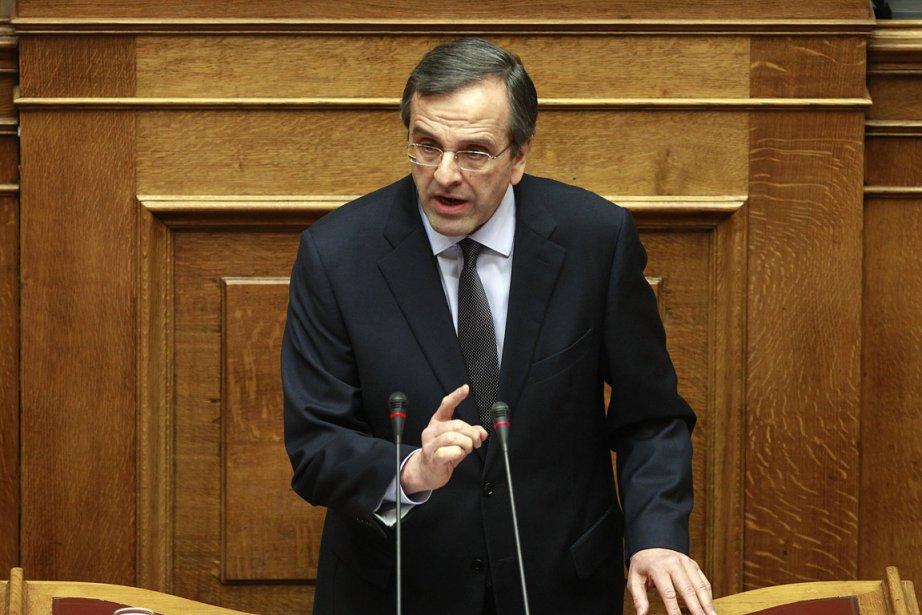 Antonis Samaras, le chef de la Nouvelle Démocratie,... (Photo: archives Reuters)