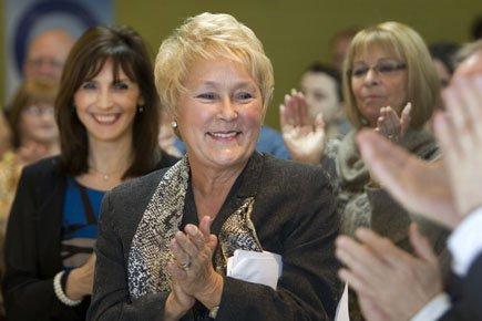Pauline Marois a rencontré les militants péquistes de... (Photo: Robert Skinner, La Presse)