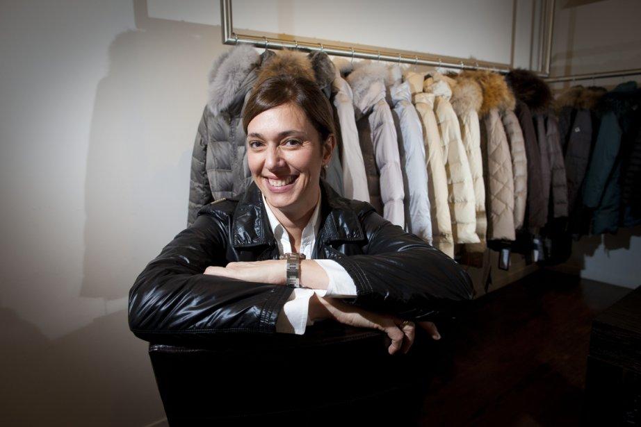 Marie Lévesque, présidente de l'agenceRose, fait passer son... (Photo André Pichette, La Presse)
