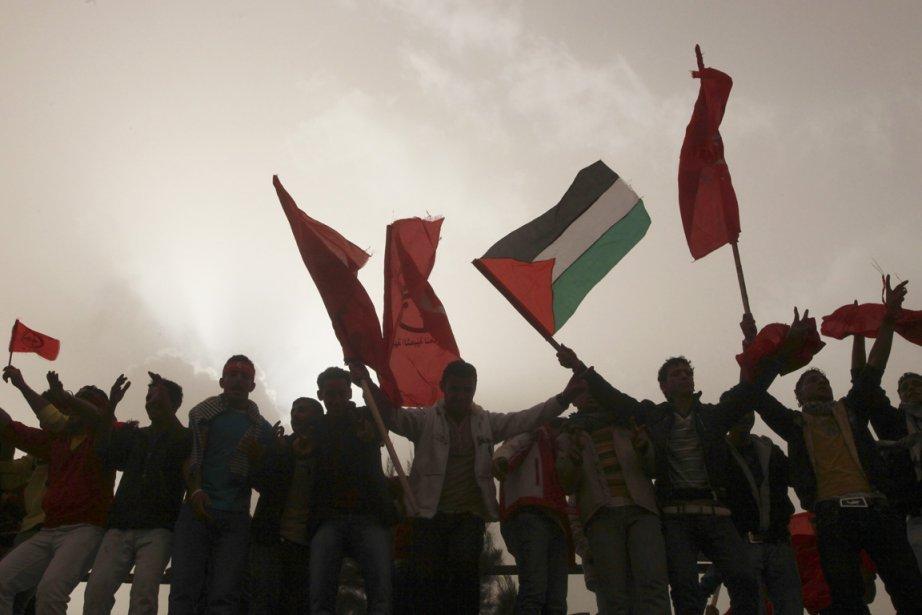 Manifestation pour un État palestinien à Gaza. L'avenir... (Photo: Suhaib Salem, Reuters)
