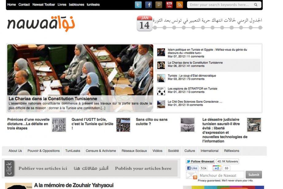 À l'occasion de la Journée mondiale contre la... (Photo tirée du blogue Nawaat de Tunisie)