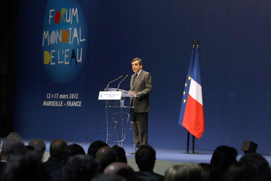 Le premier  ministre français François Fillon, lors... (Photo: AP)