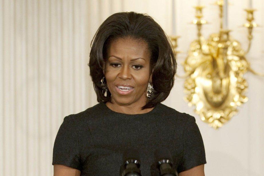 Michelle Obama... (Photo: Jim Watson, Archives Agence France-Presse)
