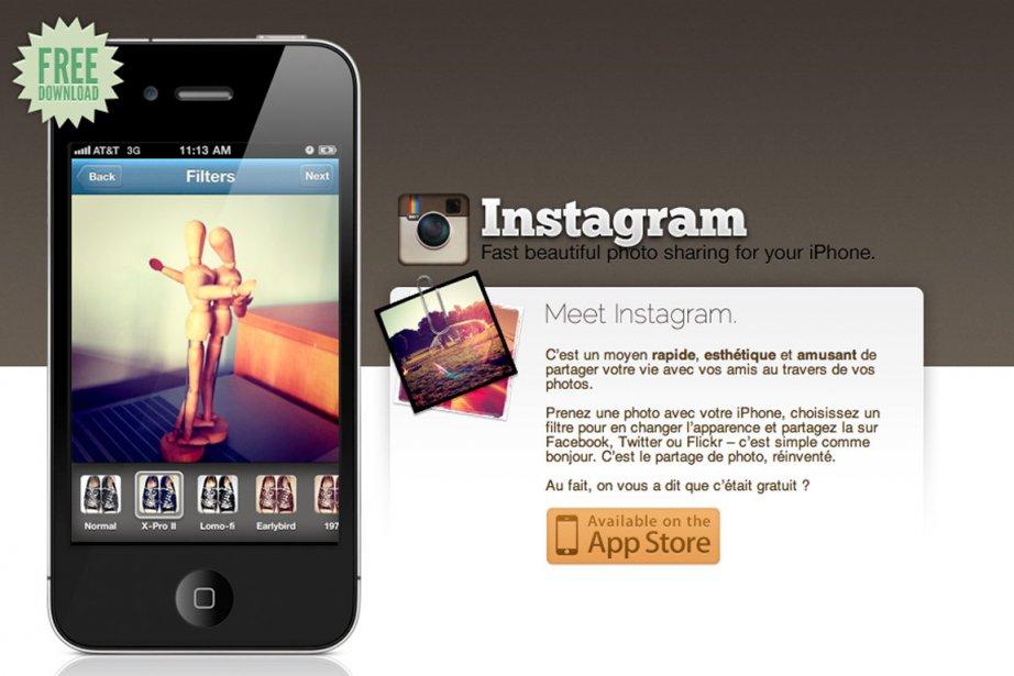 Instagram... (Saisie d'écran du site Instagram)