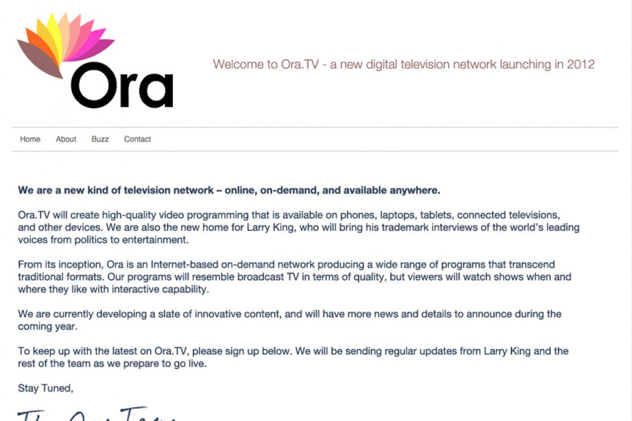 Ora.tv... (Saisie d'écran du site Ora.tv)