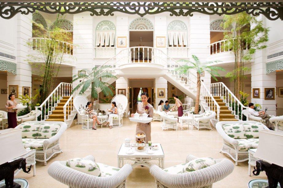 Le thé est servi tous les jours dans le salon des auteurs du Mandarin Oriental. | 13 mars 2012