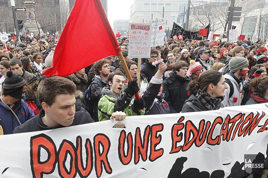 Marche de la Coalition large de l'association pour... (Photo: Patrick Sanfaçon, La Presse)