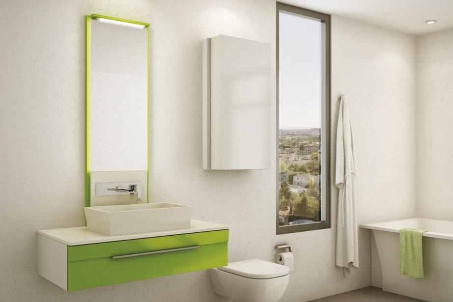 On voit apparaître du nouveau dans la salle de bain: des vanités...