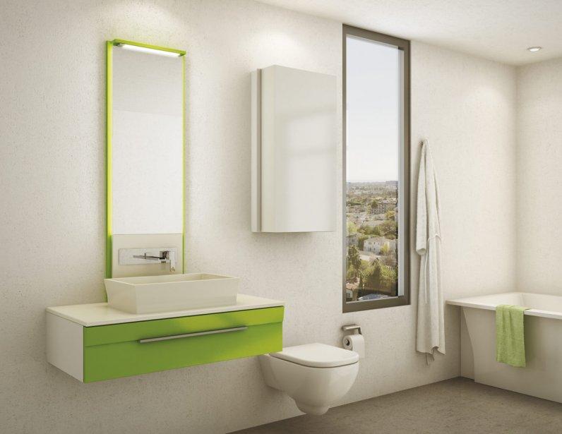Les vanit s color es allument les salles de bains - Modele peinture salle de bain ...