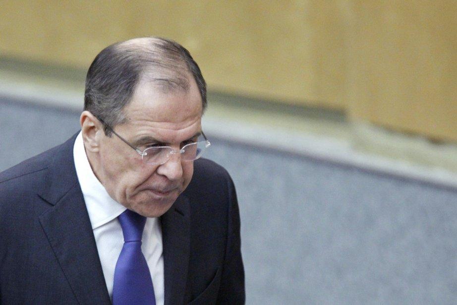 Le chef de la diplomatie russe, Sergueï Lavrov.... (Photo: Misha Japaridze, AP)