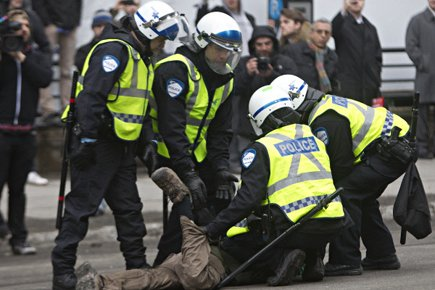 Tenues chaque mois de mars, les manifestations contre... (Photo: Patrick Sanfaçon, La Presse)
