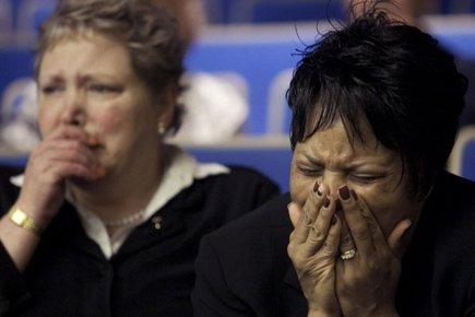 Celeste Peterson, une des plaignantes au procès et... (Photo: AP)