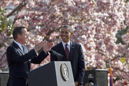 David Cameron et Barack Obama lors d'une conférence... (Photo: AP)