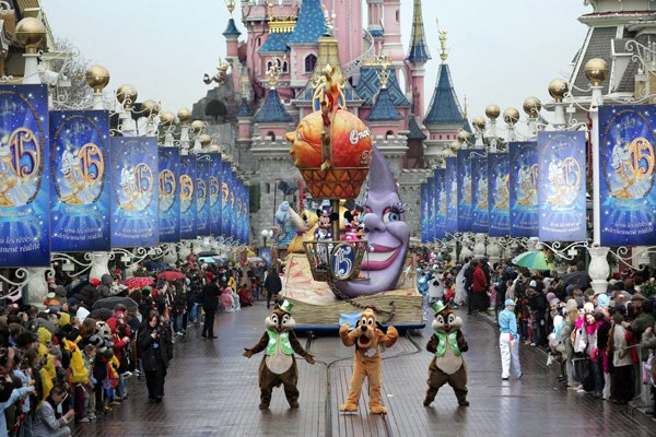 Disneyland Paris aura 20 ans le 12 avril 2012... (Photo François Guillot, AFP)