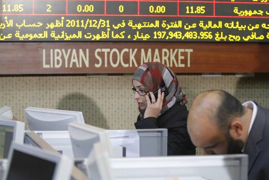 La Bourse de Tripoli avait fermé fin février... (Photo: Anis Mili, Reuters)